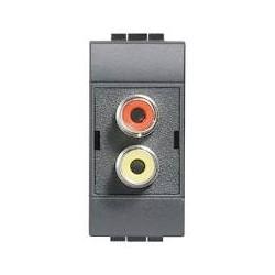 L4269R / MODULO DOPPIO RCA /BTICINO/ LIV. INT.