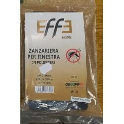 EFFE HOME ZANZARIERA PER FINESTRA IN POLIESTERE 130 X 150