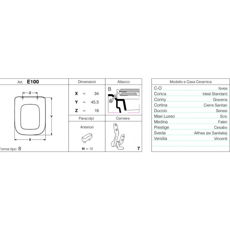 Copriwater made italy modello duccio per sanitari senesi for Seba arredo bagno
